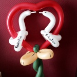 Luftballonfigur zum Valentinstag