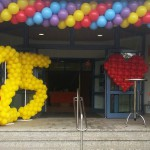 Ballongirlande zur Jubiläumsveranstaltung