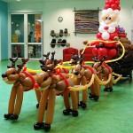weihnachtliche Ballondekoration